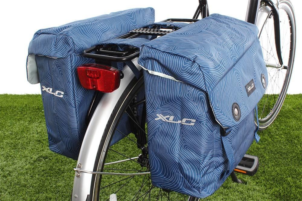 Dubbele fietstas Lux 34L Blauw