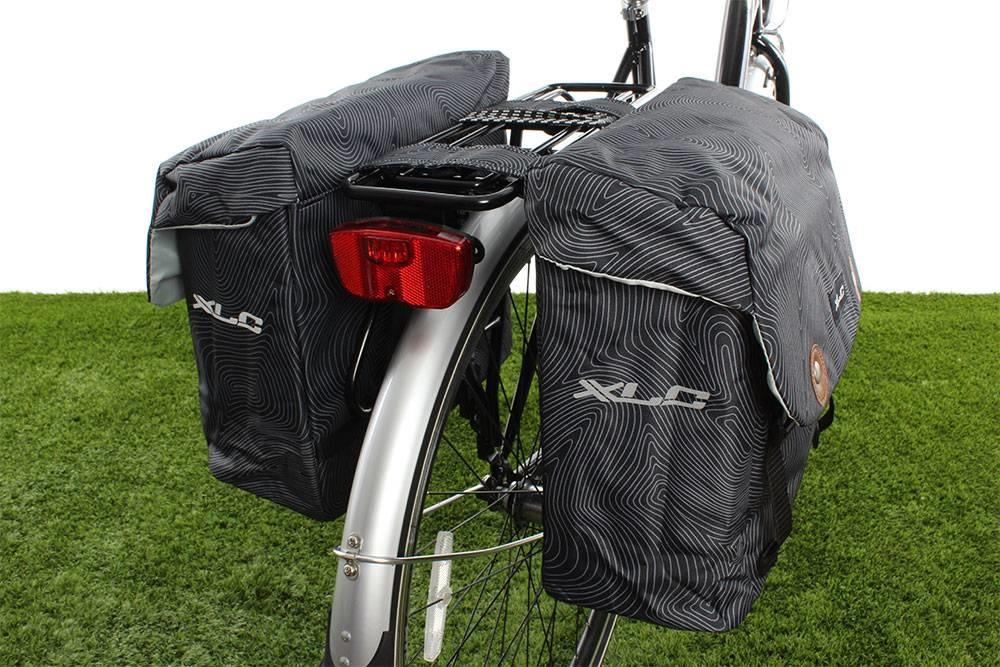Dubbele fietstas Lux 34L Antraciet