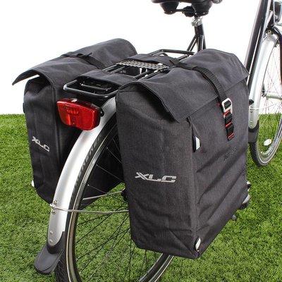 XLC Dubbele fietstas Commuter 31L Antraciet