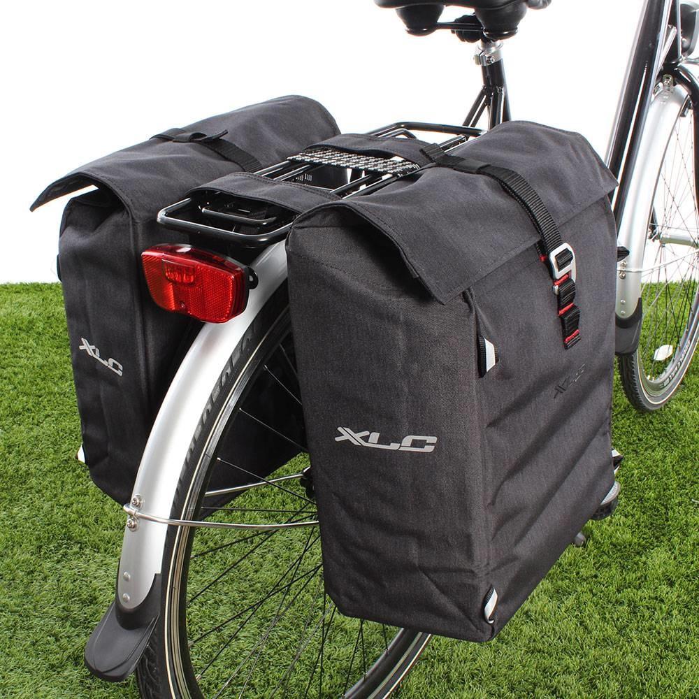 Dubbele fietstas Commuter 31L Antraciet