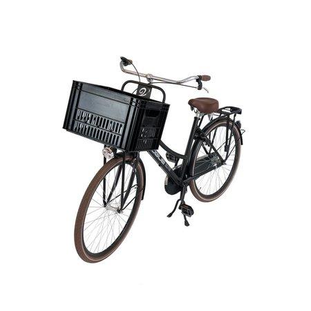 Zwart fietskrat