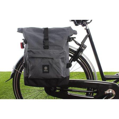 AGU Enkele fietstas Urban Trend H2O Roll-top 14L - KLICKfix - waterdicht - grijs