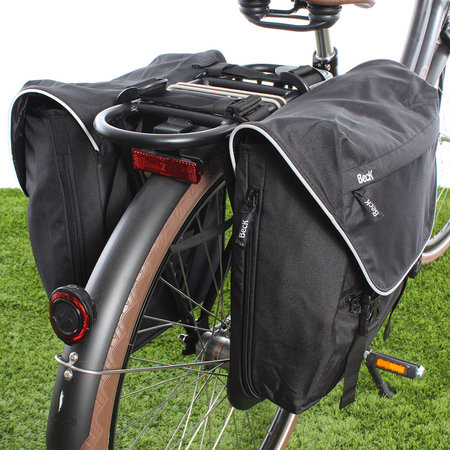 Beck Dubbele fietstas Sporty 30L Zwart