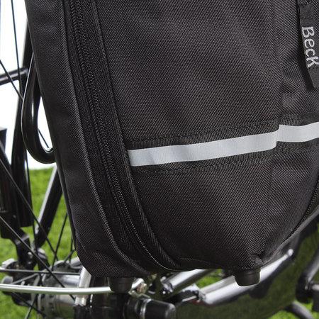 Beck Enkele fietstas SPRTV Single Print EAN 15L Zwart