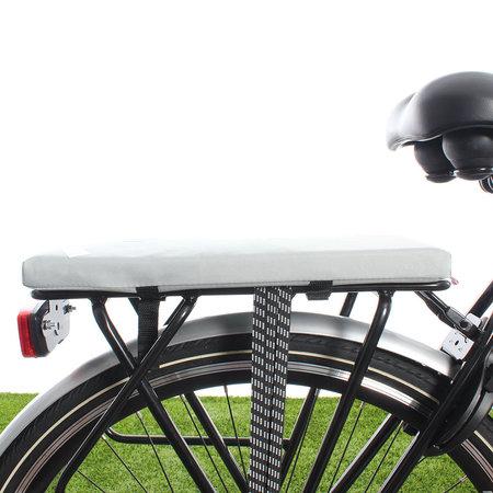 Hooodie Cushie Silver Solid - zacht fietskussentje voor op bagagedrager