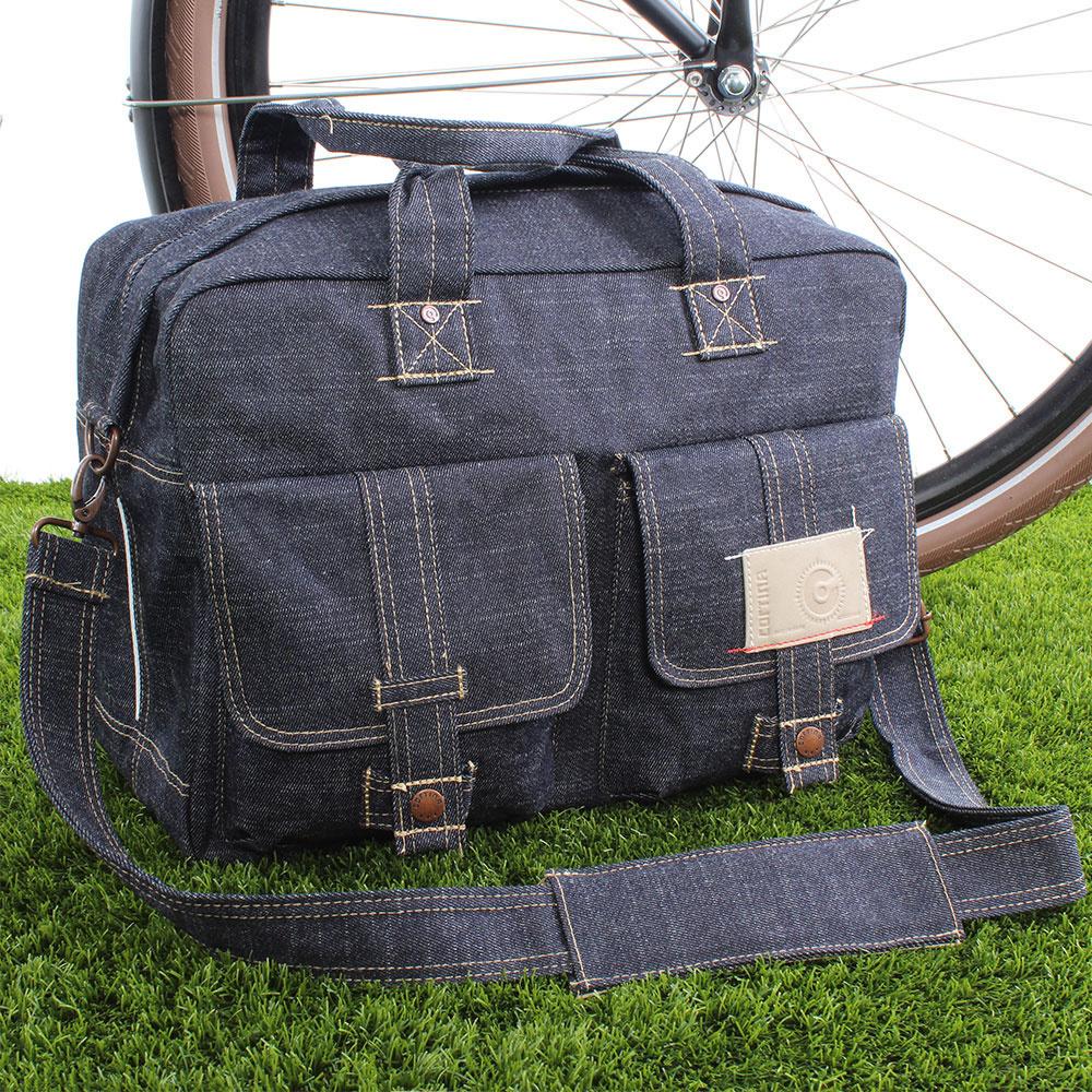 Enkele fietstas Kansas Bag Denim Solo 16L Blauw