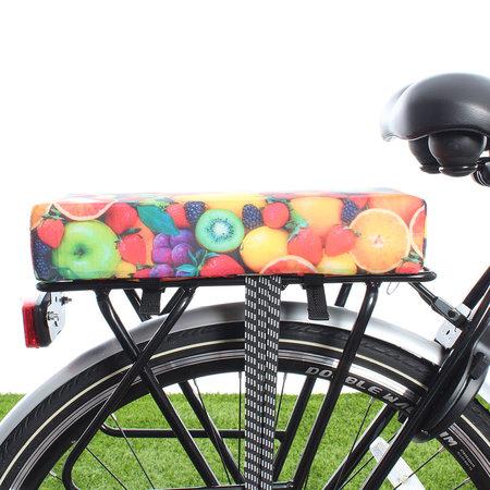 Hooodie Big Cushie Fruit- zacht fietskussentje voor op bagagedrager