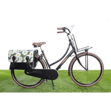 Beck Dubbele fietstas 46L Classic Daisy's