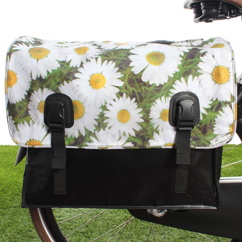 Dubbele fietstas 46L Classic Daisy's