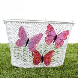 Basil Kinderfietsmand Jasmin Butterfly Wit