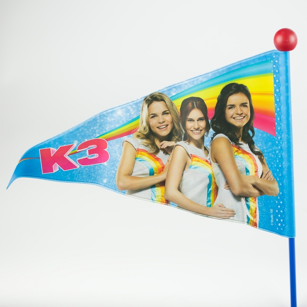 Fietsvlag K3 Blauw/Rood