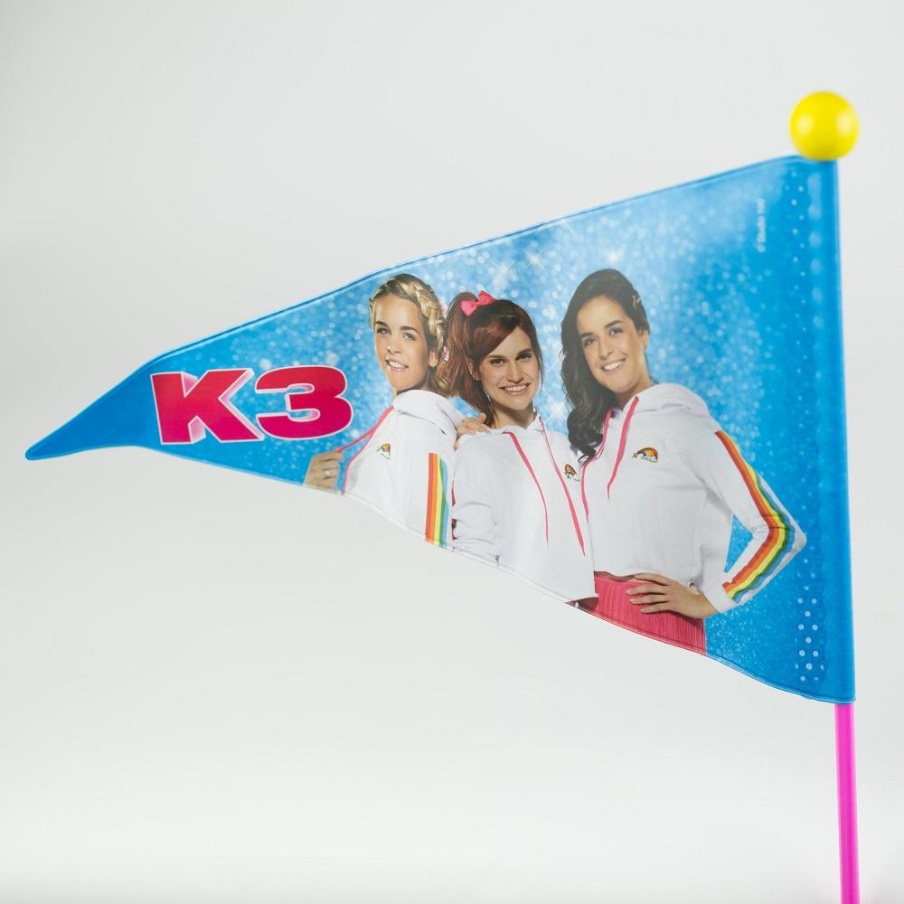 Fietsvlag K3 Roze/Geel