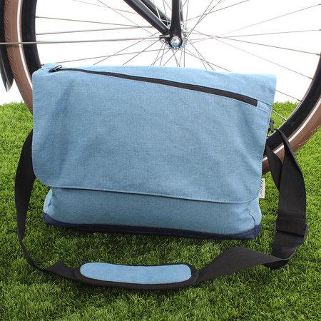Fastrider Enkele fietstas Schoudertas Jeans 15L Blauw