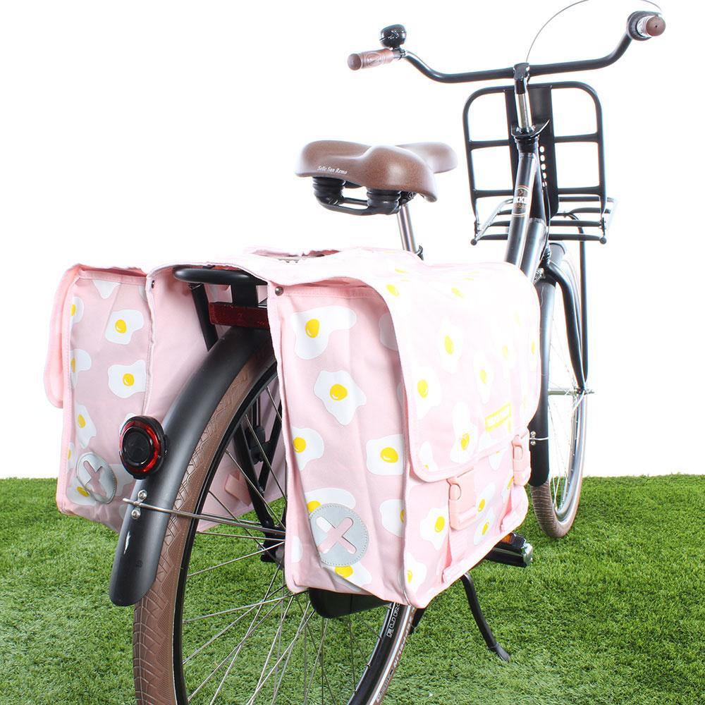 Dubbele fietstas 40L Eggs