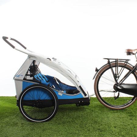XLC Fietskar Duo Zilver/Blauw