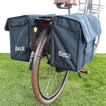 Beck Dubbele fietstas Canvas Medium 45L Blauw