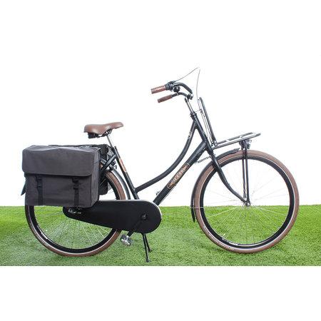 Beck Dubbele fietstas Canvas Medium 45L Grijs