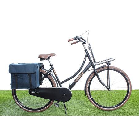 Beck Dubbele fietstas Canvas Small 35L Blauw