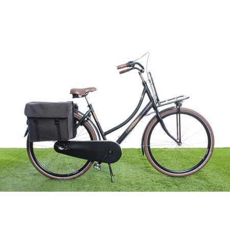 Beck Dubbele fietstas Canvas Small 35L Grijs