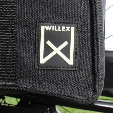 Willex Dubbele fietstas Canvas Tas 101 38L Groen/Zwart