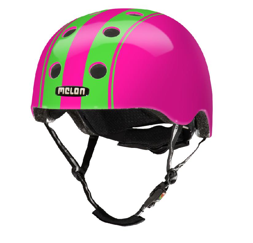 Kinderhelm Dubble Green Pink XXS-S