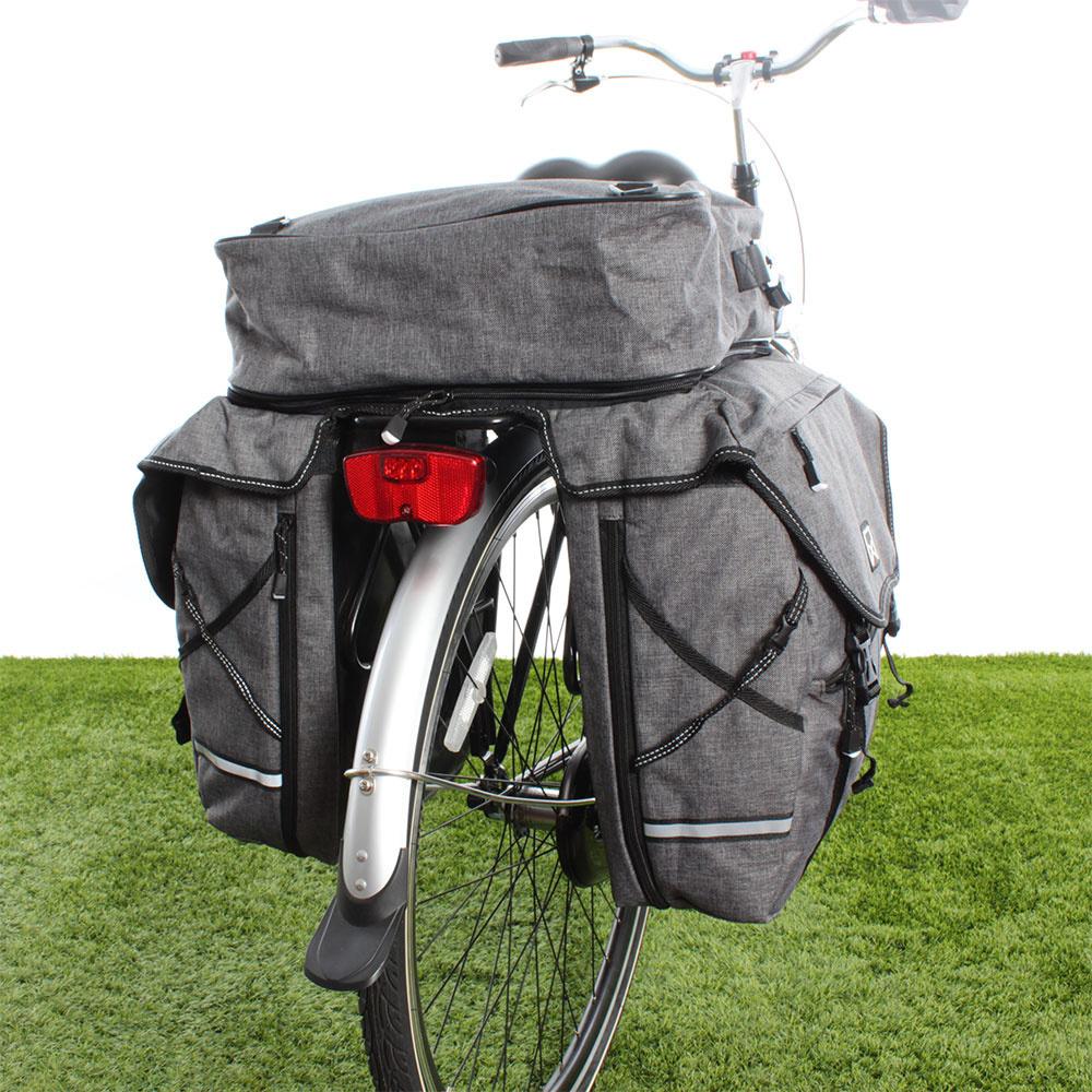 Dubbele fietstas Bagagetas XL 1200 Bovenvak Antraciet