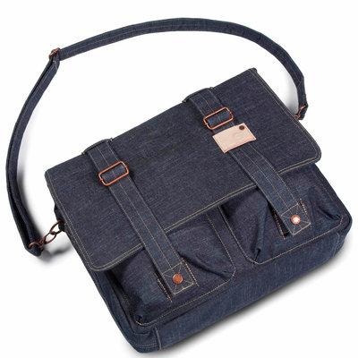 Cortina Kansas Messenger Bag Denim 12L Blauw