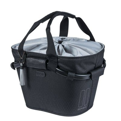 Basil Fietsmand Noir Carry All Front KF 15L Zwart
