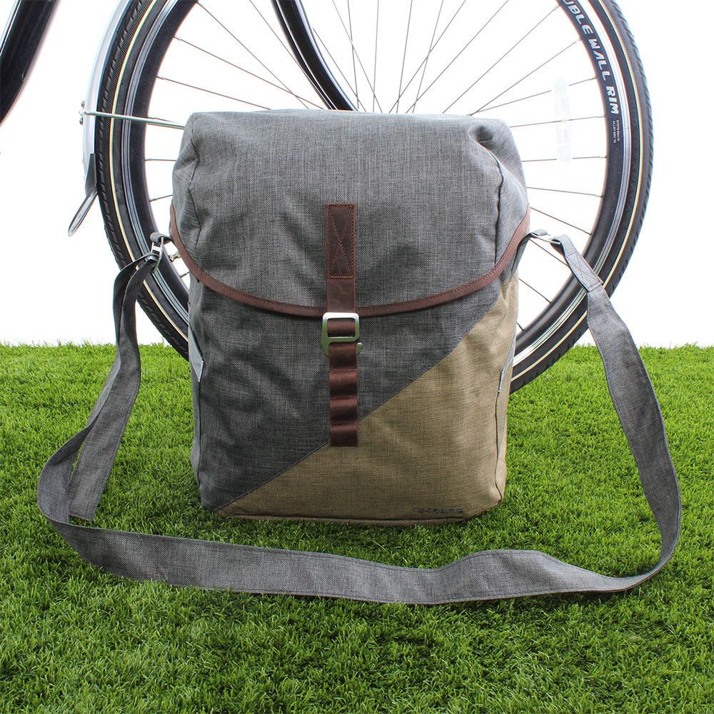 Enkele fietstas Mia 17,5L Dust Grey/Desert Sand