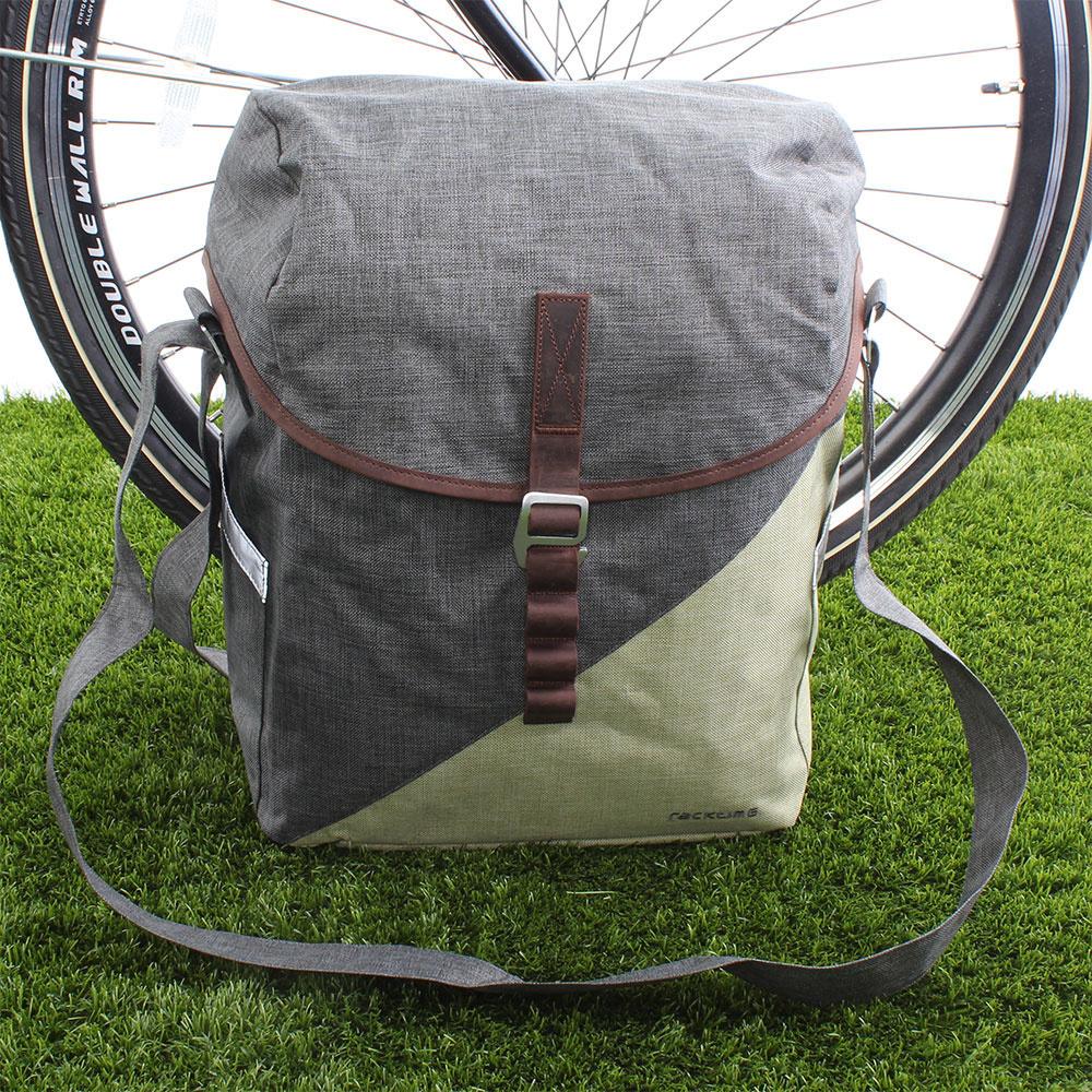 Enkele fietstas Mia 17,5L Dust Grey/Peat Bog Green