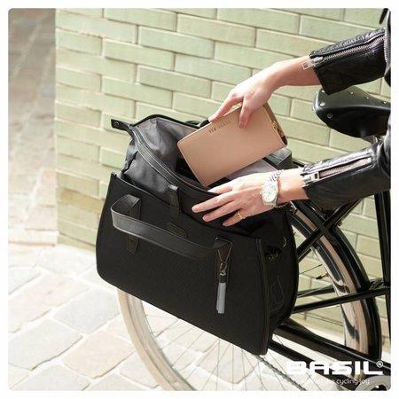 Basil Enkele fietstas Noir Business Bag 17L Zwart