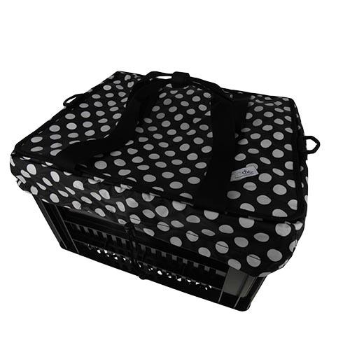 Crate Krattas White Small Dots - voor Kerri fietskrat