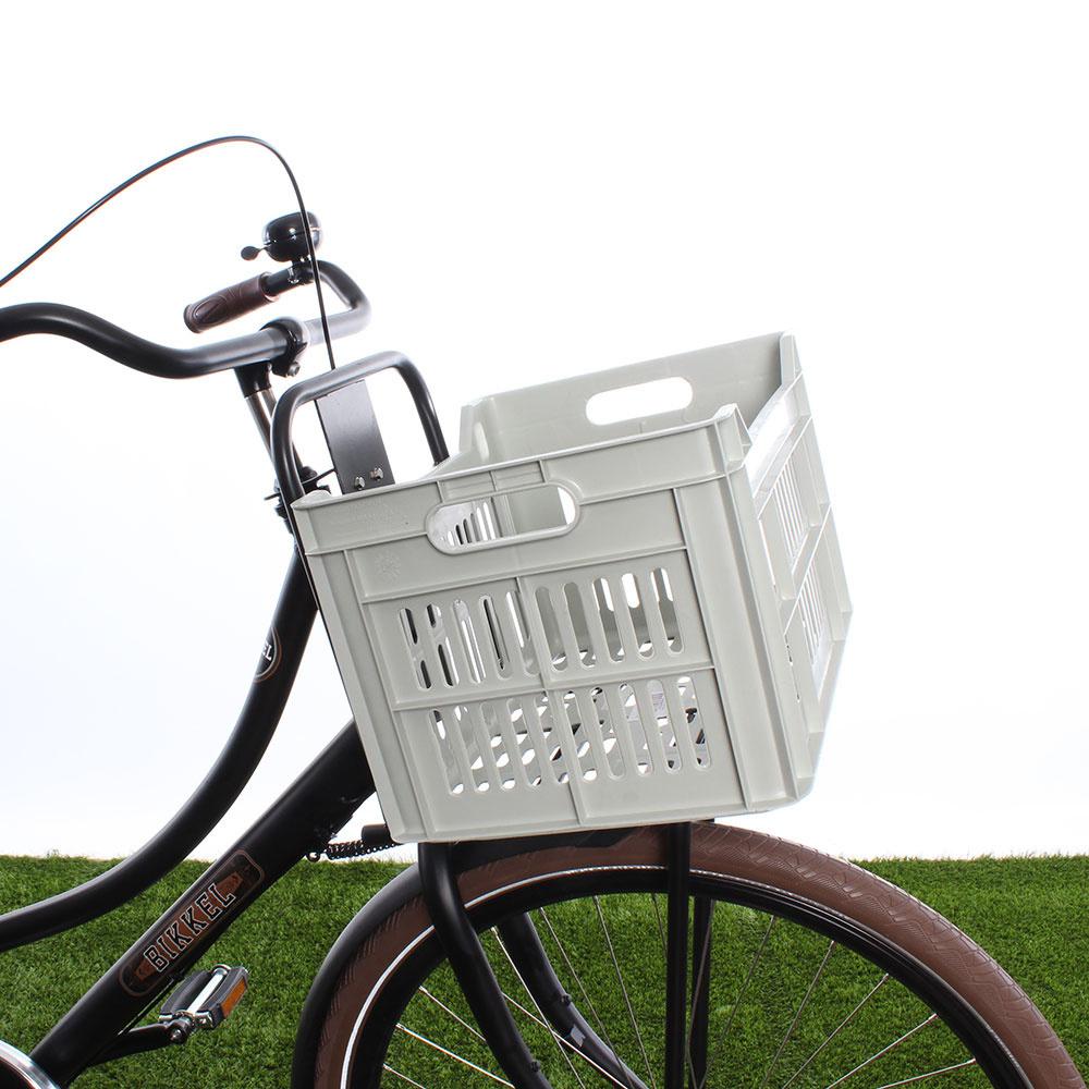 Fietskrat 30L Light Grey - Recycled