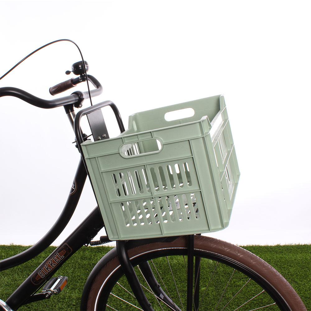 Fietskrat 30L Frosty Green - Recycled