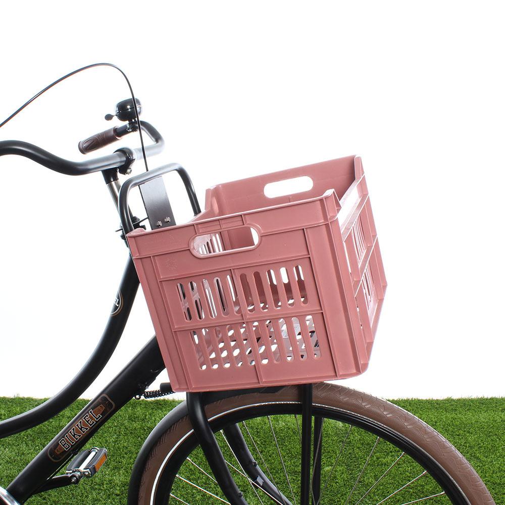 Fietskrat 30L Warm Pink - Recycled