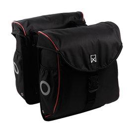 Willex Dubbele fietstas Bagagetas 300 Flexi 23L Zwart/rood