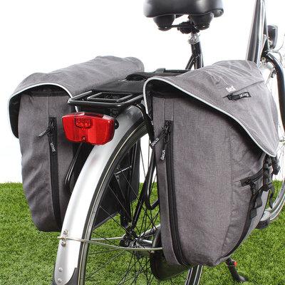 Beck Dubbele fietstas Sporty 30L Grijs