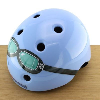 Kiddimoto Kinderhelm Blue Goggle XS