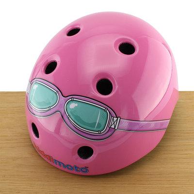 Kiddimoto Kinderhelm Pink Goggle XS
