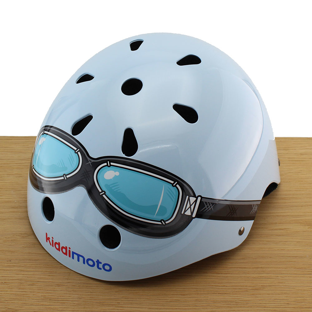 Kinderhelm Blue Goggle Small