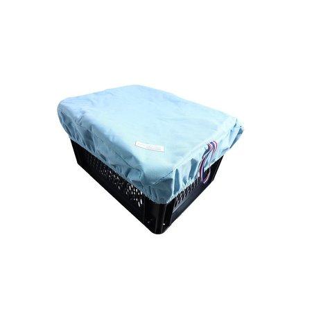 Hooodie Box L Baby Blue voor fietsmand of fietskrat