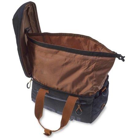 Basil Miles Trunkbag 7L Bagagedragertas Black brown