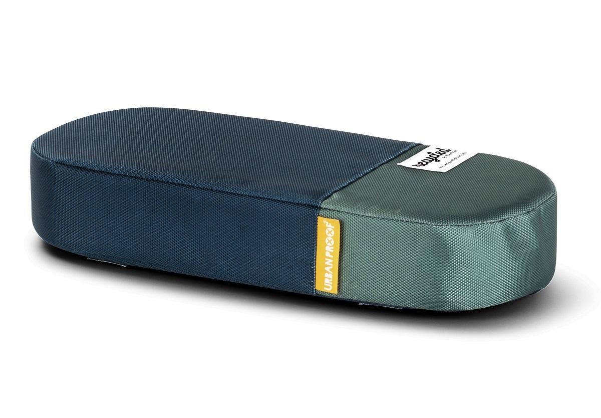 Fietskussen bagagedrager Recycled - Blauw/Groen