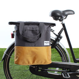 Urban Proof Shopper fietstas 20L Recycled - Grijs/Geel