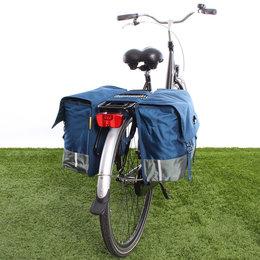 Urban Proof Dubbele fietstas 40L Recycled - Blauw/Groen