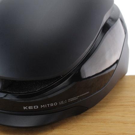 KED Fietshelm Mitro UE-1 Black - L - Met vizier
