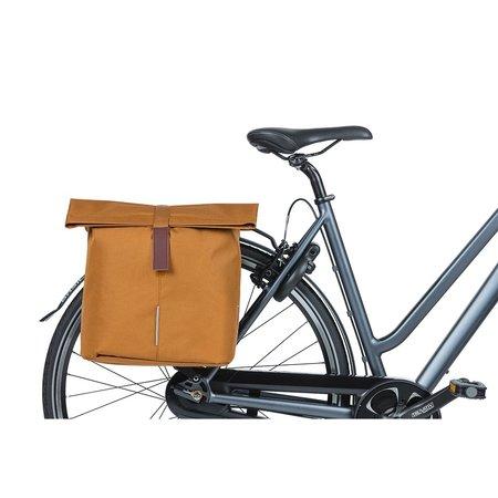 Basil Dubbele fietstas City Camel Brown 32L