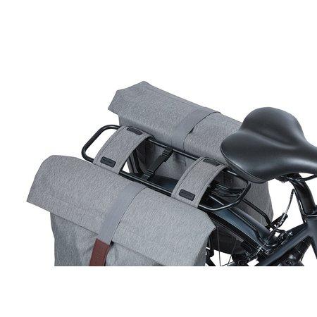 Basil Dubbele fietstas City Grey Melee 32L