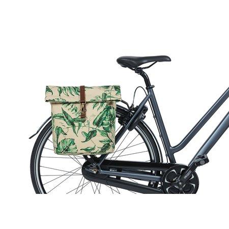 Basil Dubbele fietstas Ever-Green Sandshell Beige 32L