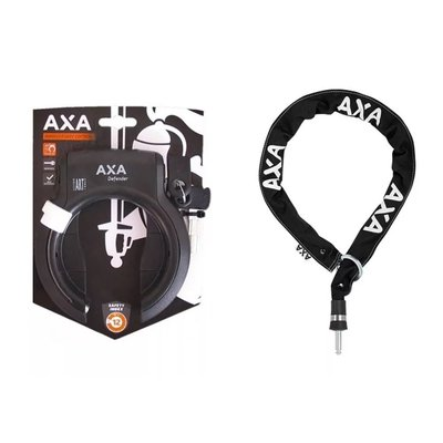 AXA Ringslot Defender  + RLC Plus insteekketting 140cm Zwart